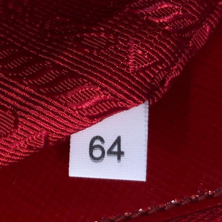 Prada Double Zip Lux Tote Vernice Saffiano Leather Mini For Sale 4