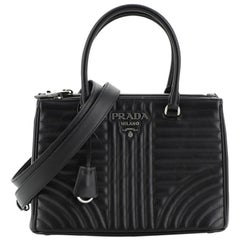 Prada Double Zip Tote Diagramme Quilted Leather Small