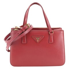 Prada Double Zip Tote Vernice Saffiano Leather Mini