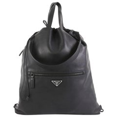 Prada Drawstring Backpack Soft Calfskin