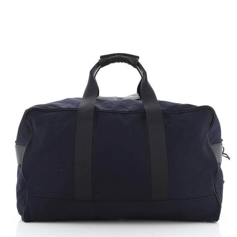 Prada Duffle Bag Canvas Large In Fair Condition For Sale In New York, NY