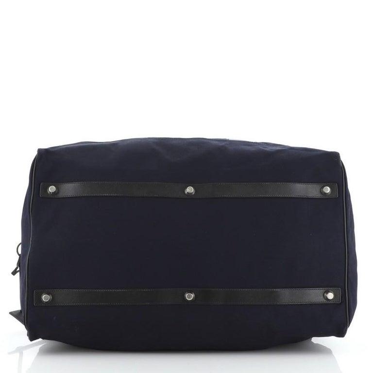 Women's or Men's Prada Duffle Bag Canvas Large For Sale
