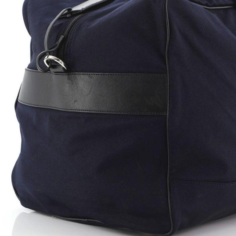 Prada Duffle Bag Canvas Large For Sale 2