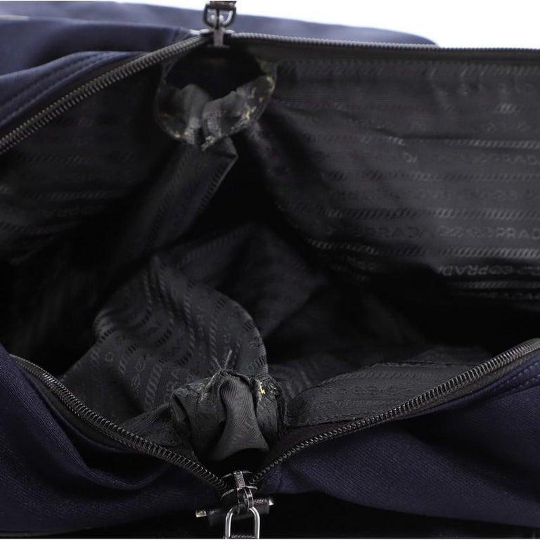 Prada Duffle Bag Canvas Large For Sale 4