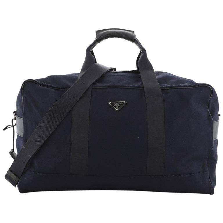 Prada Duffle Bag Canvas Large For Sale