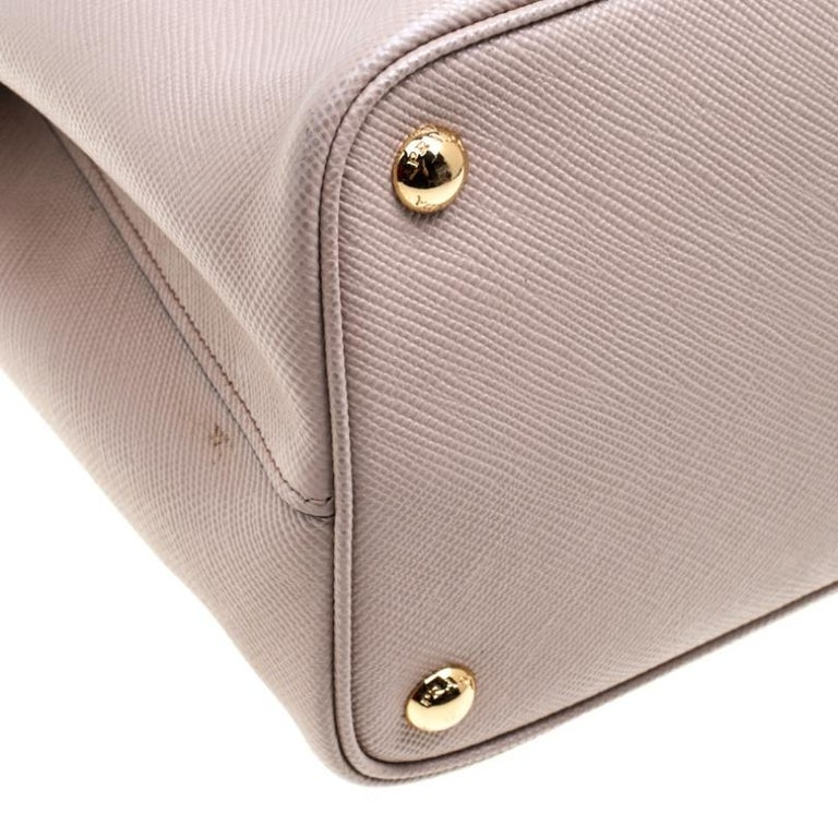 Prada Dusty Pink Leather Top Handle Bag For Sale 6