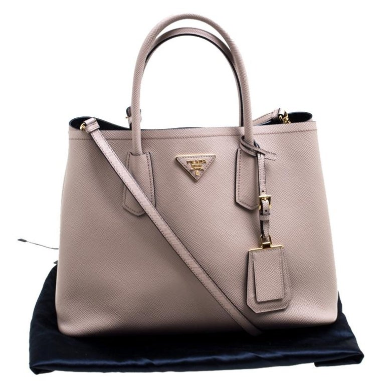 Prada Dusty Pink Leather Top Handle Bag For Sale 7