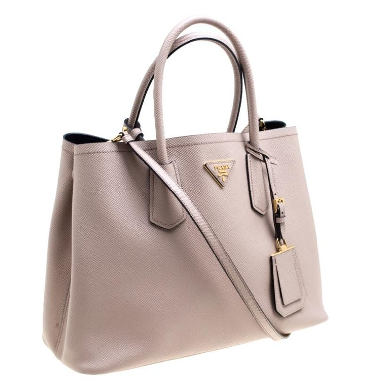 Women's Prada Dusty Pink Leather Top Handle Bag For Sale