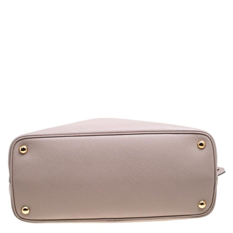Prada Dusty Pink Leather Top Handle Bag For Sale 1