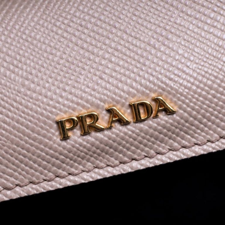 Prada Dusty Pink Leather Top Handle Bag For Sale 2