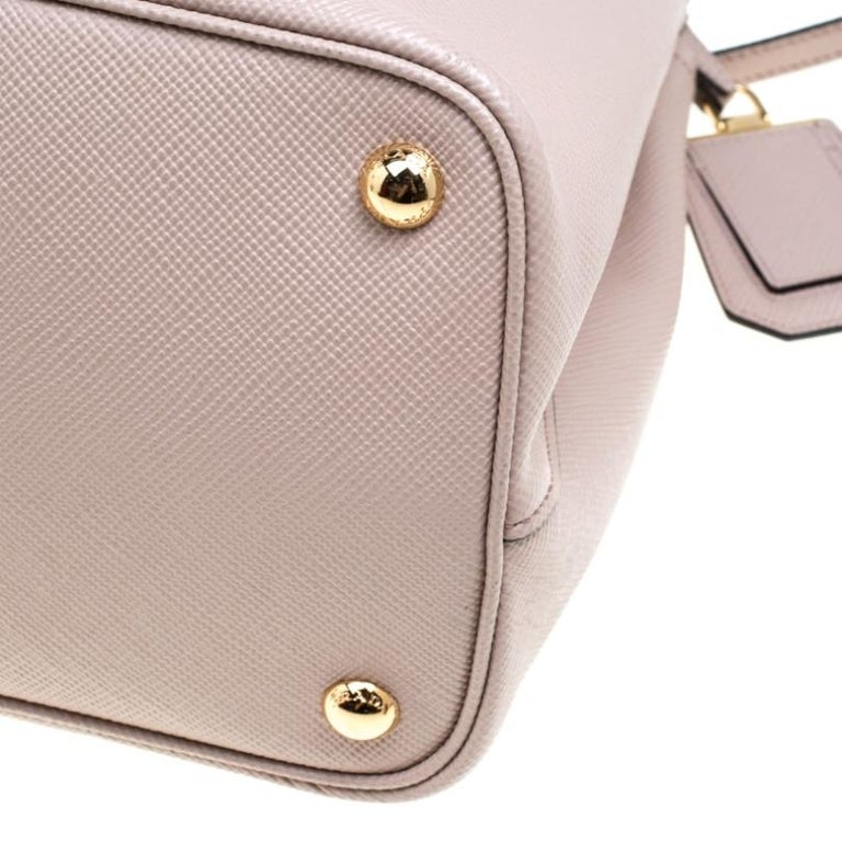 Prada Dusty Pink Leather Top Handle Bag For Sale 5