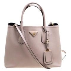 Prada Dusty Pink Leather Top Handle Bag