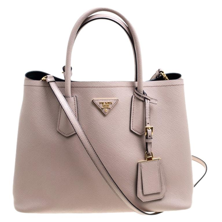 Prada Dusty Pink Leather Top Handle Bag For Sale