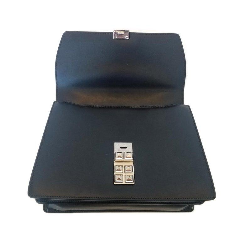 Prada Elektra Black Studded Hand Bag For Sale 1
