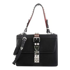 Prada Elektra Shoulder Bag Studded Leather Medium