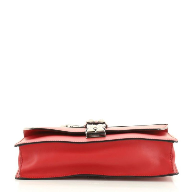 Prada Elektra Shoulder Bag Studded Leather Small In Good Condition For Sale In New York, NY