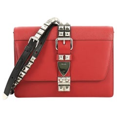 Prada Elektra Shoulder Bag Studded Leather Small