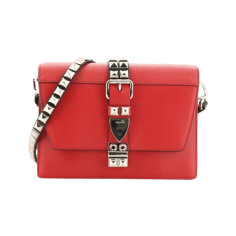 Prada Elektra Shoulder Bag Studded Leather Small For Sale