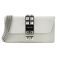 Prada Elektra Wallet on Chain Studded Leather