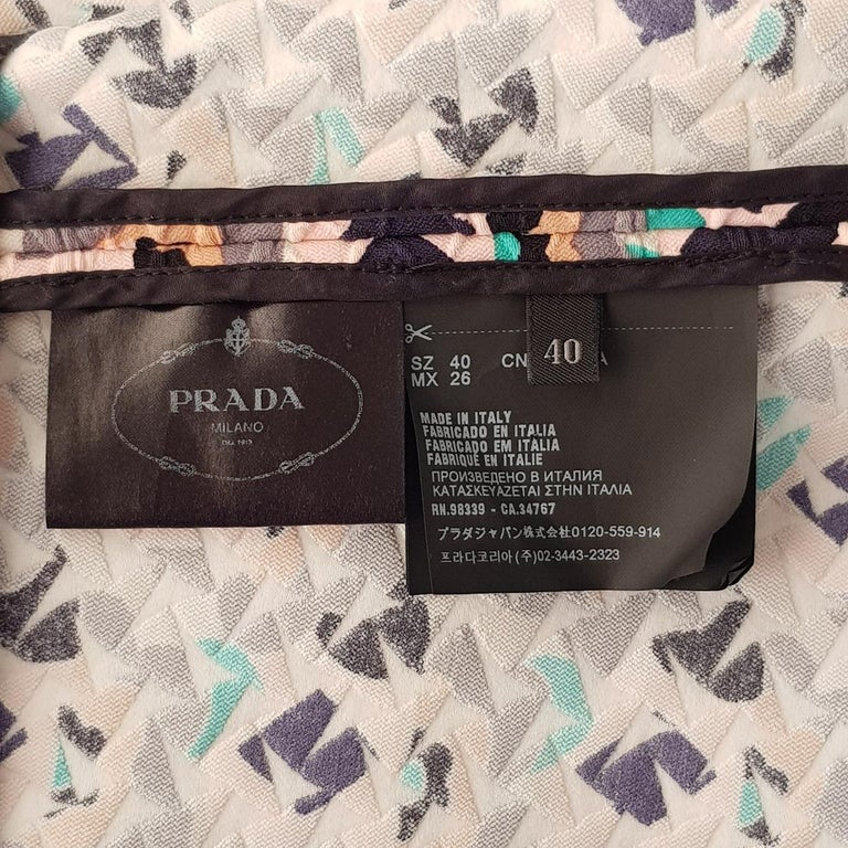 Prada Embossed Dress IT 40 For Sale 1