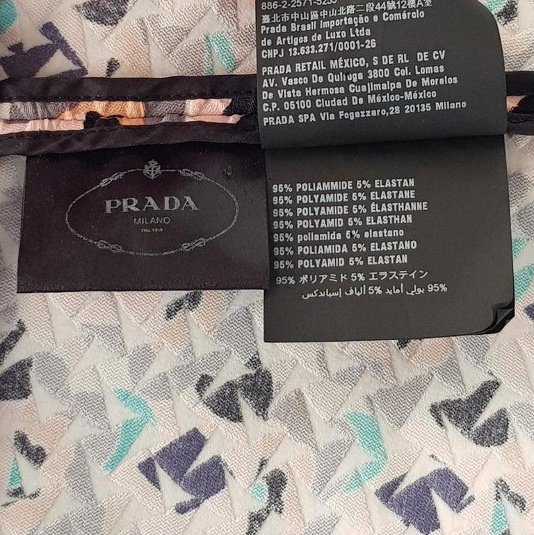Prada Embossed Dress IT 40 For Sale 2