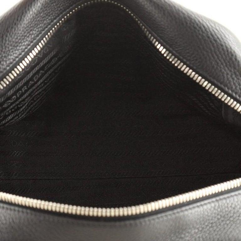 Prada Embossed Logo Bauletto Bag Vitello Daino Medium For Sale 1