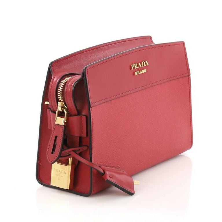 50597d865 Red Prada Esplanade Crossbody Bag Saffiano Leather Small For Sale