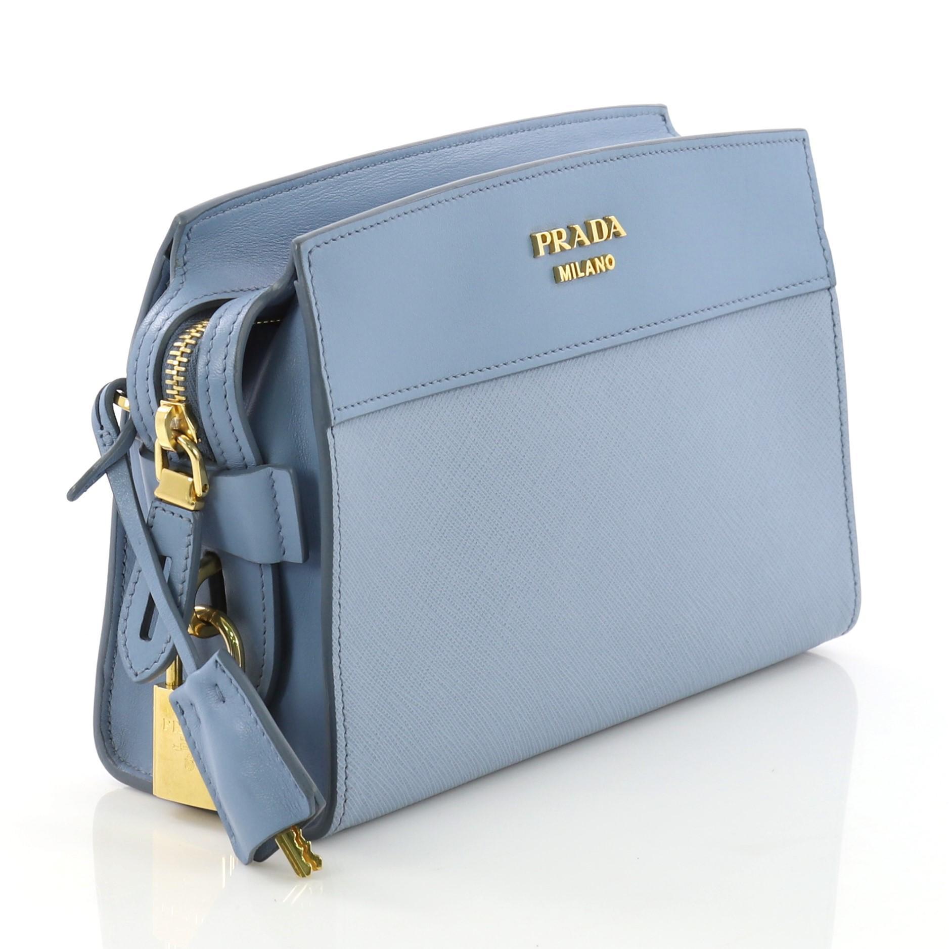 7a7a6a2587 Prada Esplanade Crossbody Bag Saffiano Leather Small For Sale at 1stdibs