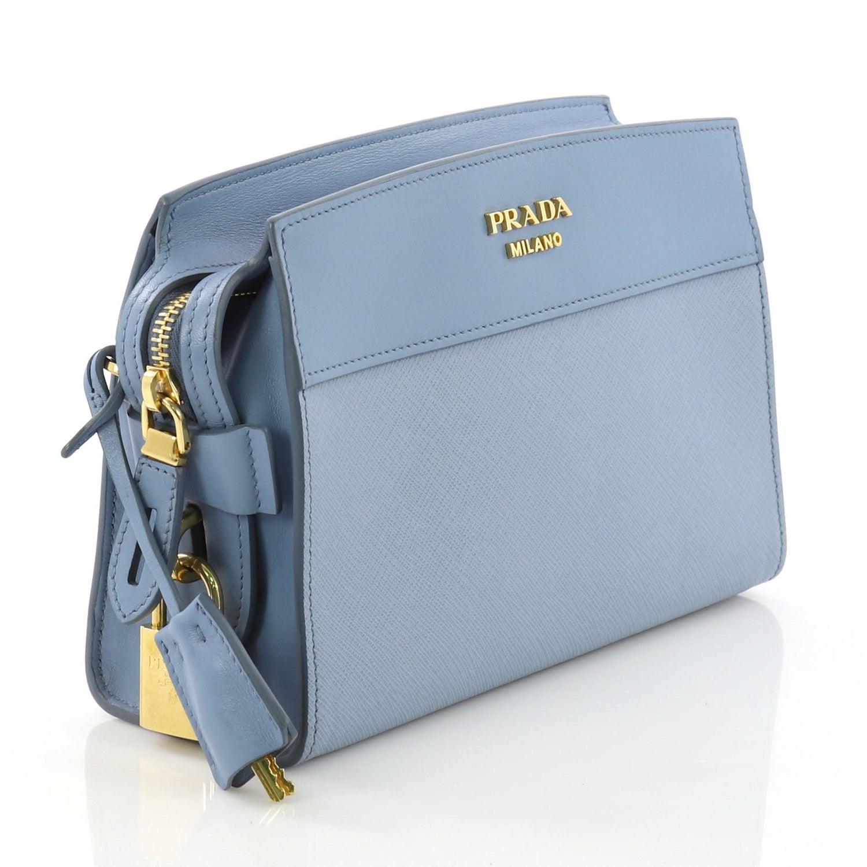 884b1d92ccc6 Prada Esplanade Crossbody Bag Saffiano Leather Small For Sale at 1stdibs