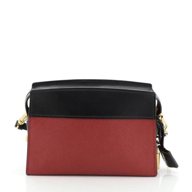 Prada Esplanade Crossbody Bag Saffiano Leather Small In Good Condition For Sale In New York, NY