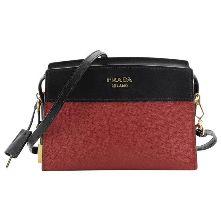 Prada Esplanade Crossbody Bag Saffiano Leather Small For Sale