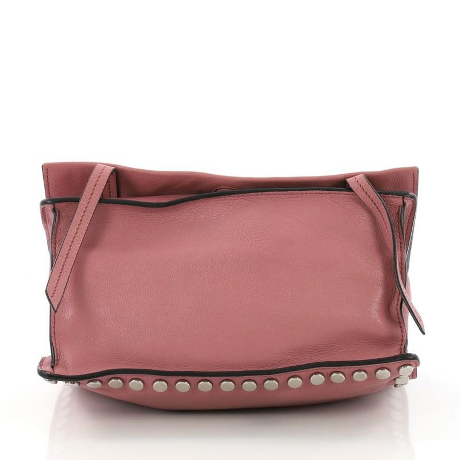 343cc7004975 Prada Etiquette Flap Bag Studded Glace Calfskin Small at 1stdibs