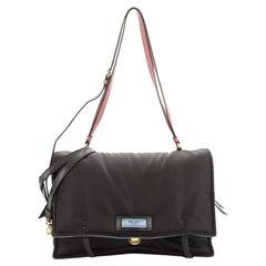 Prada Etiquette Flap Bag Tessuto Medium