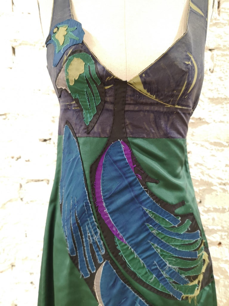 Prada Faille Blue bird Dress NWOT In New Condition For Sale In Capri, IT