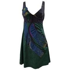 Prada Faille Blue bird Dress NWOT