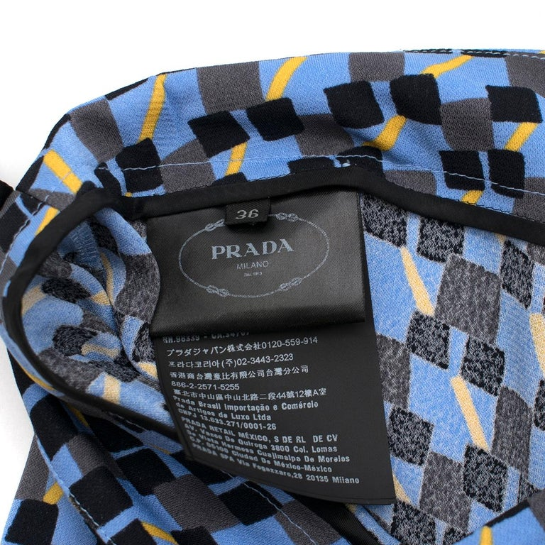 Women's Prada Feather-Trimmed Printed Crepe De Chine Pants IT 36