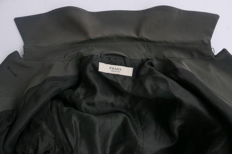 Prada Fitted Jacket 38 Dark Grey  For Sale 5