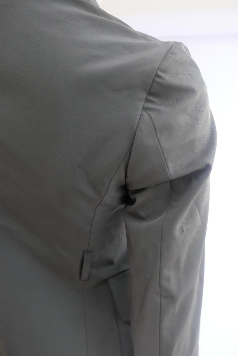 Black Prada Fitted Jacket 38 Dark Grey  For Sale
