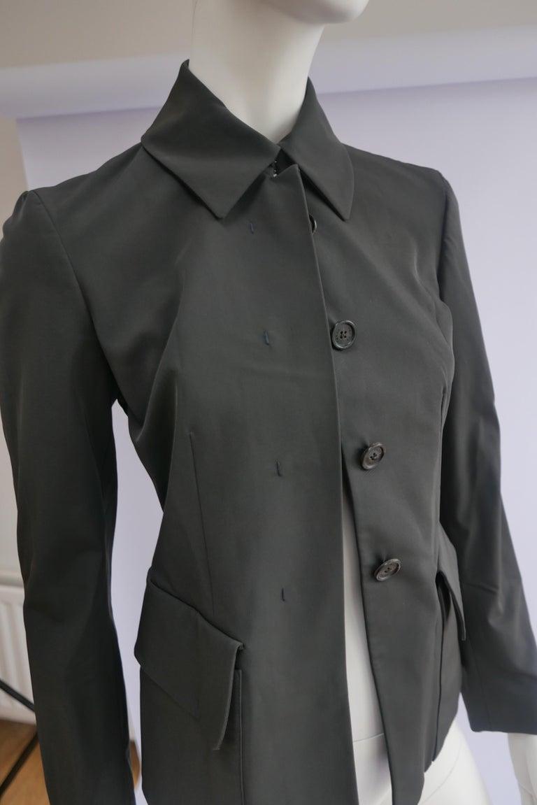 Prada Fitted Jacket 38 Dark Grey  For Sale 1