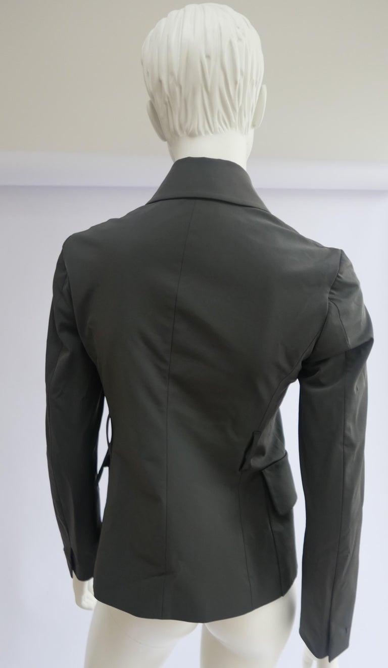 Prada Fitted Jacket 38 Dark Grey  For Sale 2