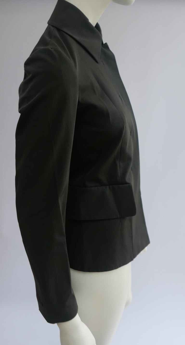 Prada Fitted Jacket 38 Dark Grey  For Sale 3