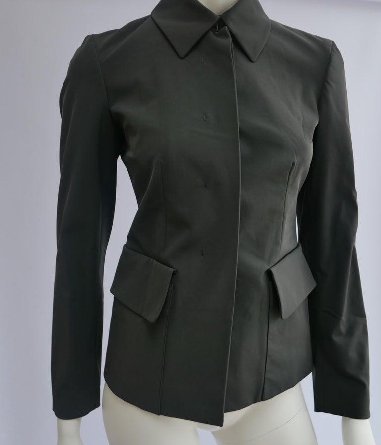 Prada Fitted Jacket 38 Dark Grey  For Sale 4