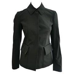 Prada Fitted Jacket 38 Dark Grey