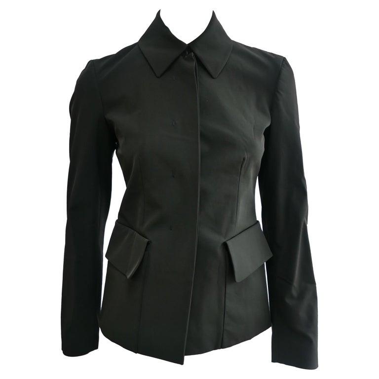 Prada Fitted Jacket 38 Dark Grey  For Sale