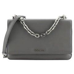 Prada Flap Compartment Shoulder Bag Soft Calfskin Small