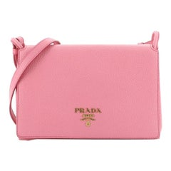 Prada Flap Crossbody Bag Vitello Daino Small
