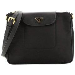 Prada Flap Zip Messenger Tessuto with Saffiano Leather Small