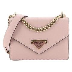 Prada Flip Lock Chain Shoulder Bag Saffiano Leather Small