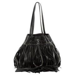 Prada Fringe Bucket Bag Soft Calfskin Large