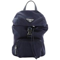 Prada Front Pocket Backpack Tessuto Small